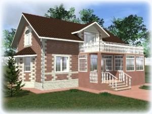 Проекты домов из теплоблоков до 200 кв.м.