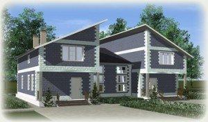 Проекты домов из теплоблоков - дуплексы