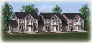 Проекты домов из теплоблоков - таунхаусы