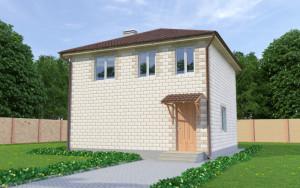 Проект дома из теплоблоков 103 2 10 Д