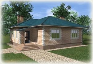 Проект дома из теплоблоков 110 1 9 Д