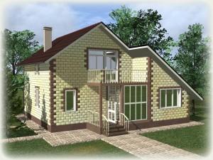 Проект дома из теплоблоков 122 2 12 M
