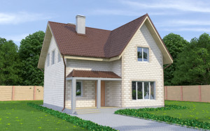 Проект дома из теплоблоков 140 2 12 M2+