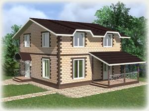 Проект дома из теплоблоков 150 2 10 M