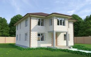 Проект дома из теплоблоков 197 2 16 Д