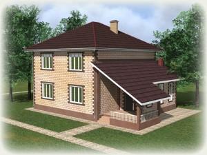 Проект дома из теплоблоков 198 2 14 Д