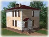 Проект дома из теплоблоков 102 2 12 D