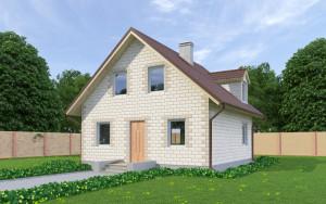 Проект дома из теплоблоков 106 2 10 M2