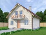 Проект дома из теплоблоков 130 2 11 М2
