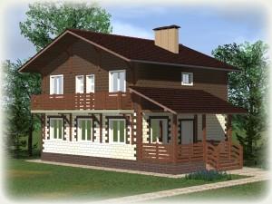 Проект дома из теплоблоков 140 2 11 D