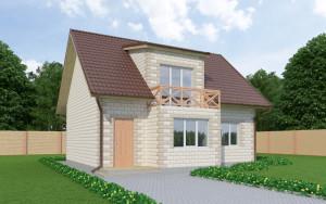 Проект дома из теплоблоков 145 2 10 M2