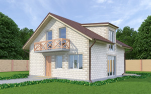 Проект дома из теплоблоков 147 2 11 M2