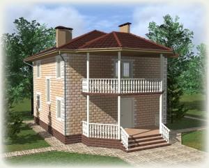 Проект дома из теплоблоков 148 2 11 Д