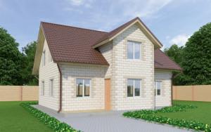 Проект дома из теплоблоков 166 2 12 M2