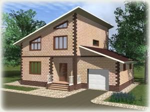 Проект дома из теплоблоков 170 2 13 Мг