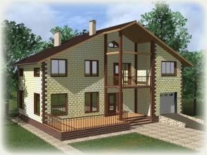 Проект дома из теплоблоков 195 2 14 Мг