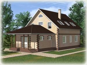 Проект дома из теплоблоков 200 2 14 M
