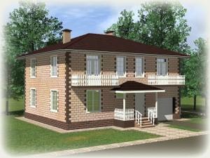 Проект дома из теплоблоков 228 2 15 Дг
