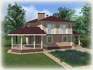 Проект дома из теплоблоков 273 2 16 Д