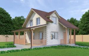Проект дома из теплоблоков 102 2 8 М2