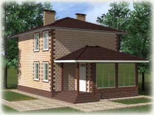 Проект дома из теплоблоков 112 2 11 Д