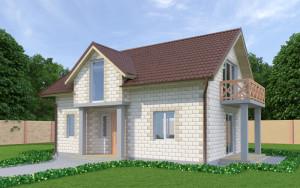 Проект дома из теплоблоков 126 2 11 M2