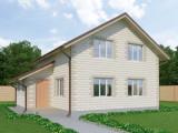 Проект дома из теплоблоков 126 2 15 M2