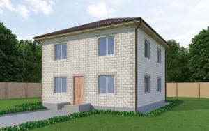 Проект дома из теплоблоков 133 2 12 Д2