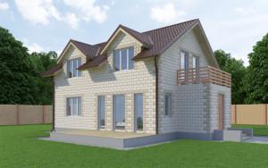 Проект дома из теплоблоков 141 2 11 М