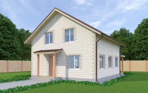 Проект дома из теплоблоков 141 2 12 M2