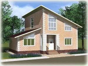 Проект дома из теплоблоков 160 2 12 M