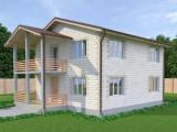 Проект дома из теплоблоков 162 2 10 M2