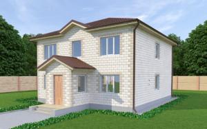 Проект дома из теплоблоков 177 2 14 D2