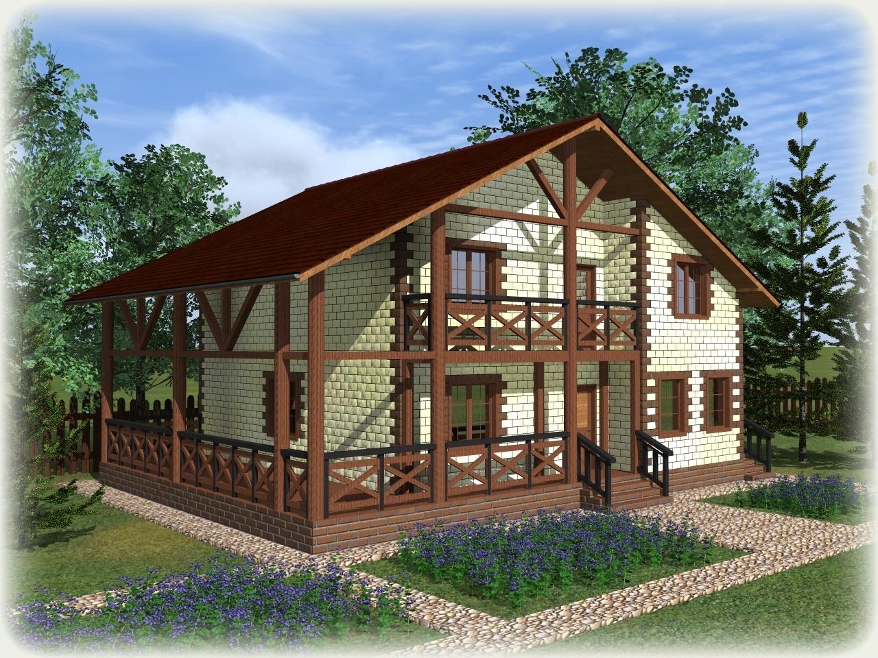 Проект дома из теплоблоков 223 2 14 M