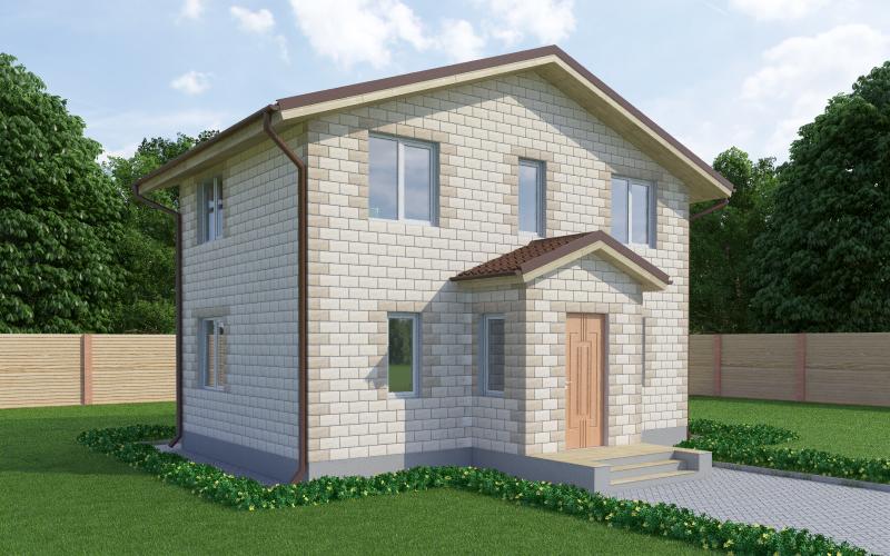 Проект дома из теплоблоков 78 2 9 M2