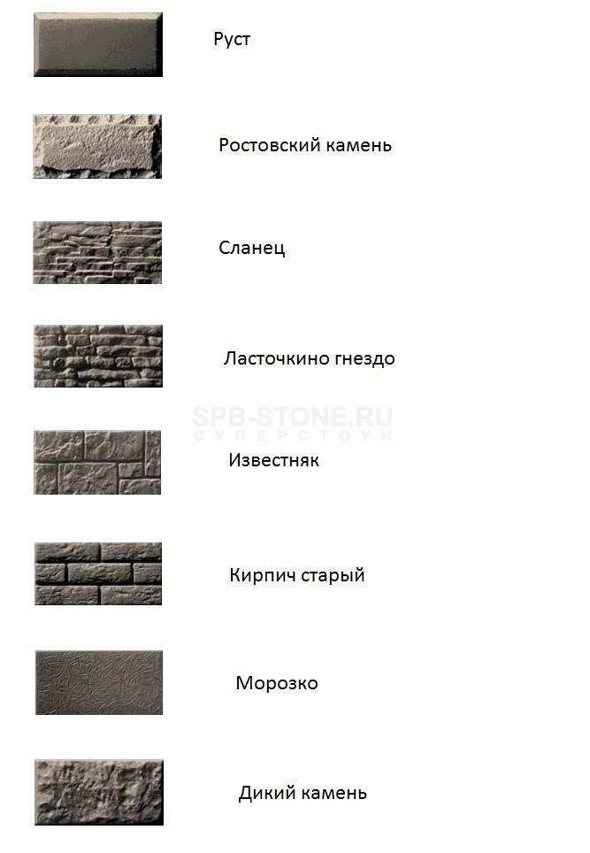 Фактуры ткплоблоков